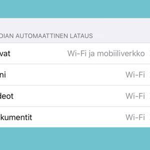 Kuvakaappaus WhatsAppista: Kuvien automaattisen latauksen esto iPhone