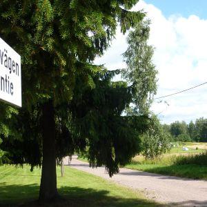 Vägskylt vid Stenbrovägen