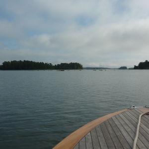 Skärgårdsvy från en båt.