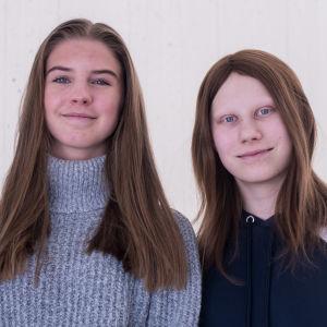 Matilda Tidström och Emilia Hagner.