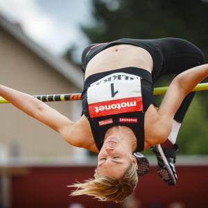 Linda Sandblom hoppar höjd, 2018.