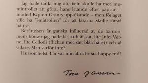 Tove Janssons förord till den första Muminboken.
