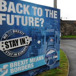 Anti-brexitaffisch i Newry i Irland.