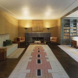 Vardagsrummet Saarinen House Cranbrook