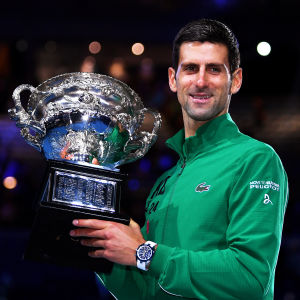 I februari vann Novak Djokovic grand slam-turneringen Australian Open.