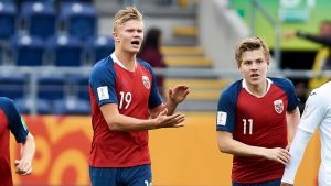 Erling Braut Håland i U20-VM.