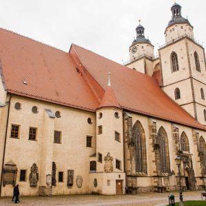 """I stadskyrkan i Lutherstaden Wittenberg finns en relief över """"judesvinet""""."""