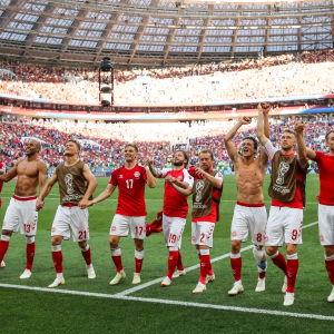 Danmarks fotbollslandslag under VM 2018.