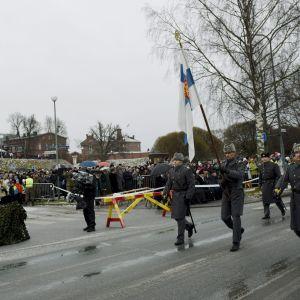 Försvarsmaktens självständighetsparad i Tavastehus den 6 december 2014.
