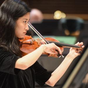 RSO:n viulisti soittaa viulua.