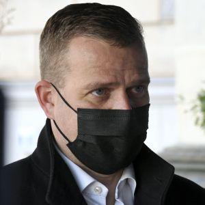 Samlingspartiets ordförande Petteri Orpo den 27 april 2021.