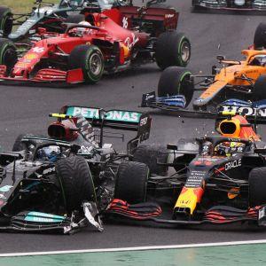 Valtteri Bottas och Sergio Perez.