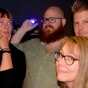 Sandra Anttila, Björn Karlsson, Anders Alanen och Gunilla Celvin.