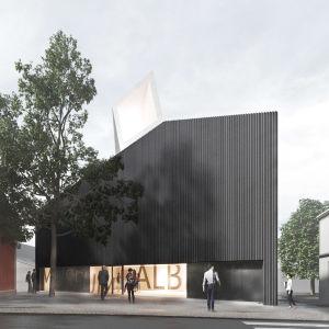 Skiss på nya museet Kronan i Ekenäs.