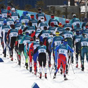 Pyeongchangin olympialaiset 50 kilometrin yhteislähtökilpailu