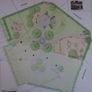 Karta över blivande park