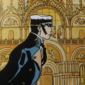 Mietteliäs Corto Maltese Venetsiassa.