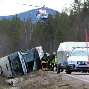 Olycksplatsen nära Sveg