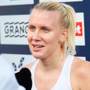 För en månad sedan tävlade Sandra Eriksson i terräng-FM i Kurikka.