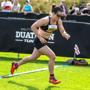 I augusti deltog Krista Pärmäkoski i Valtteri Bottas duathlontävling (löpning+cykling+löpning).