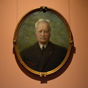 Porträtt av Ville Vallgren av amatörkonstnären Åström, 1920.