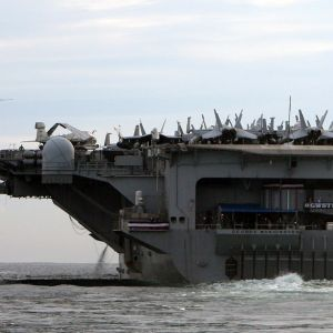 Det amerikanska hangarfartyget USS George Washington