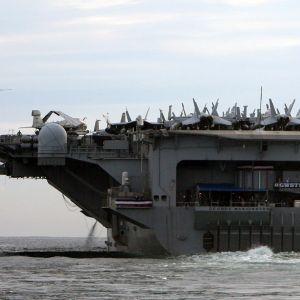 Det amerikanska hangarfartyget USS George Washington