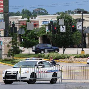 Polispådrag efter skjutning i Baton Rouge.