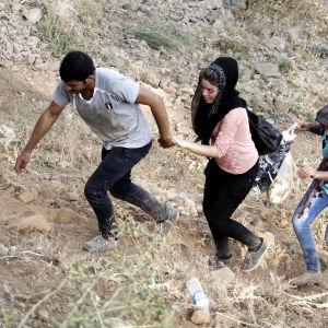 Yazidier på flykt i norra Irak