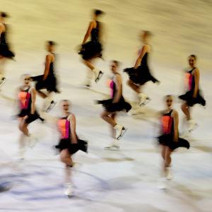 Synkrolaget Haydenettes på is 2016.