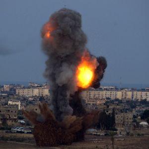 Israel fällde bomb mot Hamas i Gaza (16.11.2012).