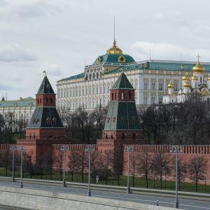 Vy över Kreml i Moskva.