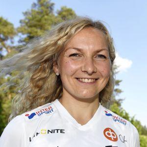 Marika Teini kämpar om medaljer på fredag.