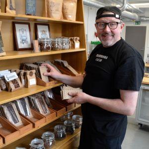 Peter Westerlund i Lilla Chokladfabriken.