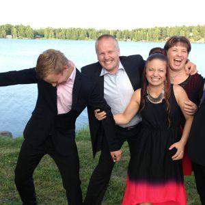 Stefan Sigfrids med familj