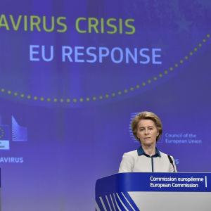 Europarådets ordförande Charles Michel och EU-kommissionens ordförande Ursula von der Leyen