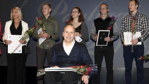 Parafriidrottaren firar priset som årets idrottare på en gala i Helsingfors.