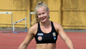 Saga Andersson tränar i Helsingfors i maj 2019.