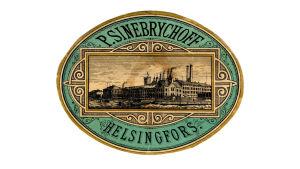 Etikett för ölflaska från 1880-talet