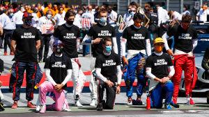 De flesta F1-förare knäböjde inför Österrikes GP.