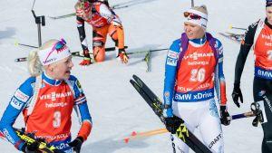 Kaisa Mäkäräinen och Mari Laukkanen