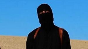 Bilden uppges vara från videon som visar David Haines innan han dödas av IS.