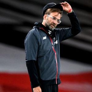 Liverpools tränare Jürgen Klopp under matchen mot Arsenal.