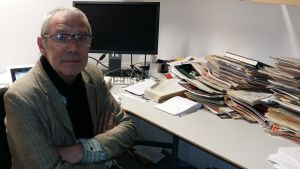 Hans Sundström på sitt arbetsrum i december 2016.