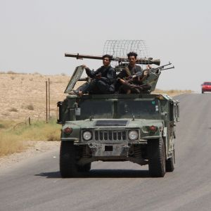 Afganistanin turvallisuusjoukkoja partioimassa Helmand maakunnassa 11. elokuuta 2020.