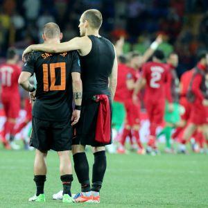 Arjen Robben och Wesley Sneijder