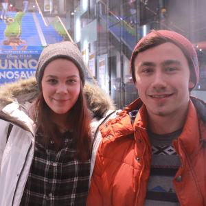 Gallupiin vastaajat Marjo ja Jorge.