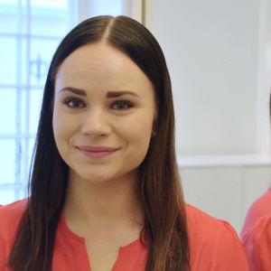 Alexandra Bäckman från Borgå tävlade i Nelonens Bachelor Suomi 2019