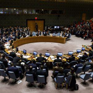 Säkerhetsrådet samlat till möte om Syrien.