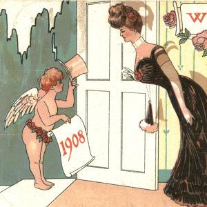 Skottårskort från början av 1900-talet.